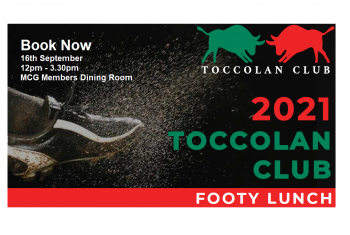 2021 Footy Lunch - Book Now